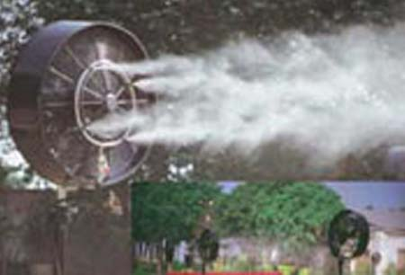 Pipeline Misting Fan for sale and rent   Superloo india